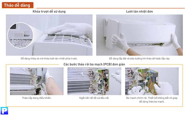 Dàn lạnh treo tường CS-MRZ60WKH-8 dễ dàng tháo dỡ, bảo trì, bảo dưỡng